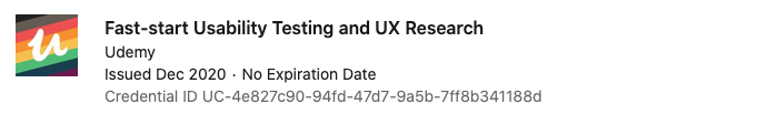 text: Certification - Fast Start Usability Testing and UX Research