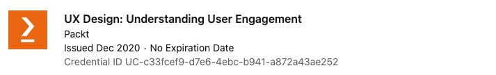 text: Certification - UX Design: Understanding User Engagement
